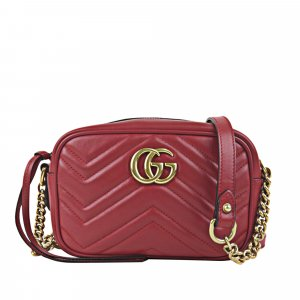 Gucci GG Marmont Matelasse Mini Leather Crossbody Bag