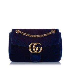Gucci Sac porté épaule bleu coton