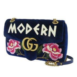 Gucci GG Marmont Matelasse Velvet Crossbody Bag