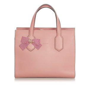 Gucci Mochila de colegio rosa Cuero
