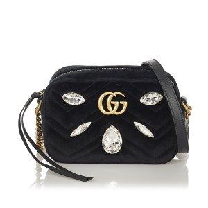 Gucci Gekruiste tas zwart Synthetische vezel