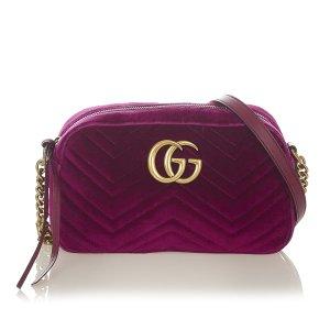 Gucci Torba na ramię jasny fiolet Sztuczne włókno