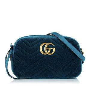 Gucci Gekruiste tas blauw Synthetische vezel