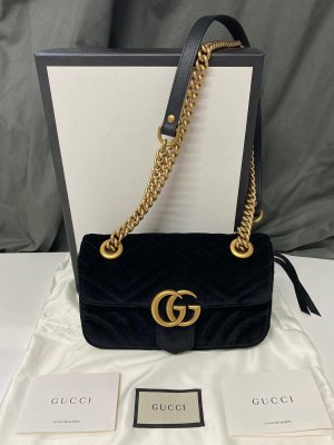 Gucci GG Marmont Velvet Mini Bag Nero