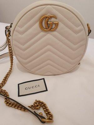 Gucci GG Marmont weiß rund