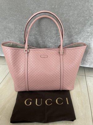 GUCCI GG Monogram Microguccissima Soft Pink Leather Tote Bag