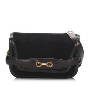 Gucci GG Nubuck Leather Shoulder Bag