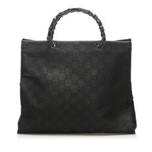 Gucci GG Nylon Bamboo Tote Bag