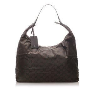 Gucci Sac de voyage noir nylon