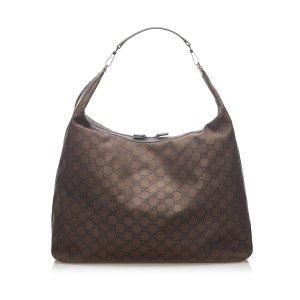 Gucci Borsa da viaggio marrone scuro Nylon