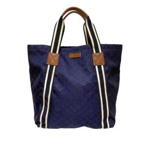 Gucci Borsa larga blu Nylon
