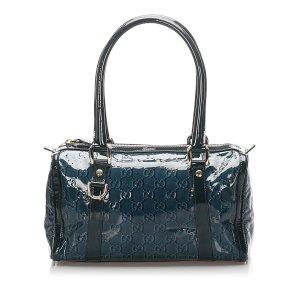 Gucci GG Patent Leather Boston Bag