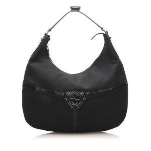 Gucci Borsa sacco nero Nylon