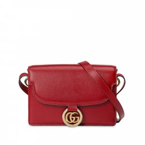 Gucci GG Ring Leather Shoulder Bag