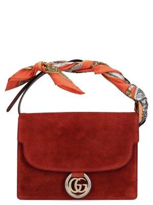 Gucci Torebka podręczna czerwony Skóra