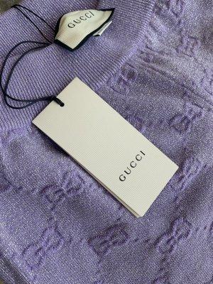 Gucci Harem Pants purple-silver-colored