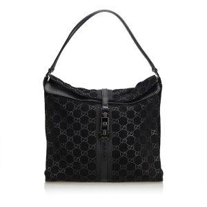 Gucci GG Suede Jackie Shoulder Bag