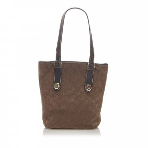 Gucci GG Suede Tote Bag