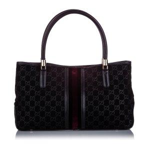 Gucci GG Suede Web Tote Bag