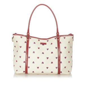 Gucci GG Supreme Heart Print Joy Tote Bag