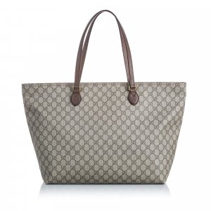 Gucci Borsa larga marrone