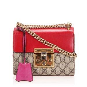 Gucci GG Supreme Padlock Crossbody Bag