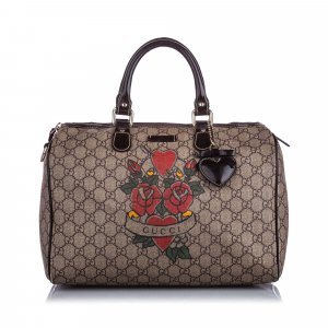 Gucci GG Supreme Tattoo Boston Bag