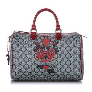 Gucci GG Supreme Tattoo Heart Joy Boston Bag