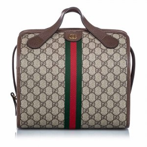 Gucci GG Supreme Web Bowler Bag