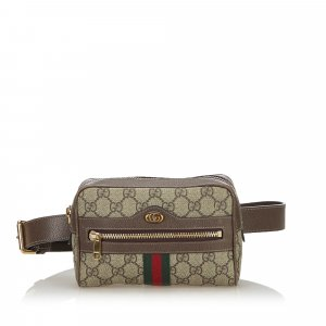 Gucci GG Supreme Web Ophidia Belt Bag