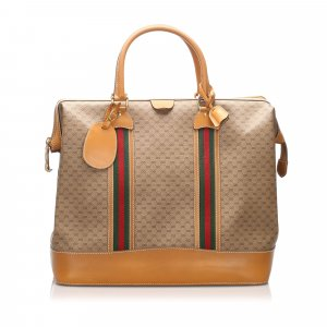 Gucci GG Supreme Web Travel Bag