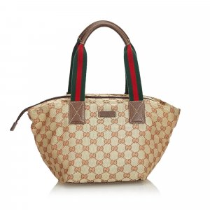 Gucci GG Web Canvas Shoulder Bag