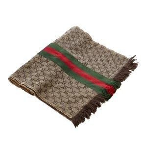 Gucci Sjaal bruin Wol