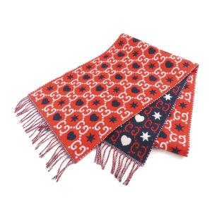 Gucci Écharpe rouge laine