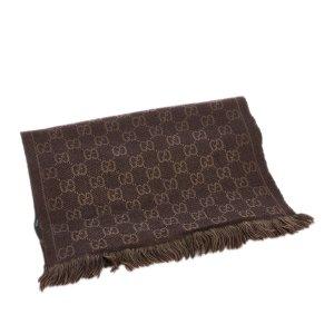 Gucci Scarf dark brown wool