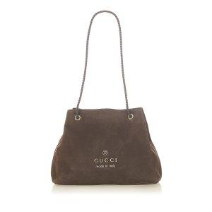 Gucci Tote dark brown leather
