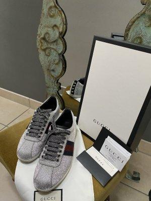 Gucci Glitter Web Stud Sneaker