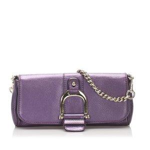 Gucci Sac à main violet cuir