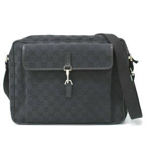 Gucci Bolsa de hombro negro fibra textil
