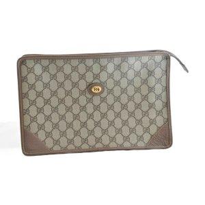 Gucci Pochette brun fibre textile