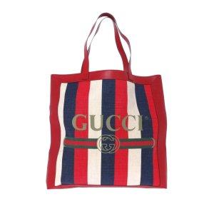 Gucci Gucci Logo Canvas Tote Bag
