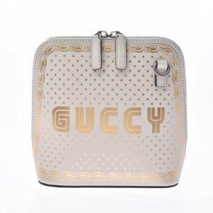 Gucci Schoudertas wit Leer