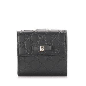 Gucci Guccissima Bow Signature Wallet