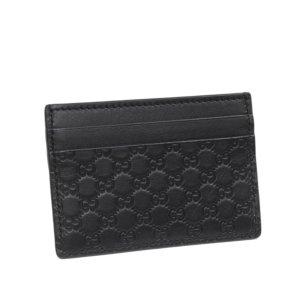 Gucci Porte-cartes noir cuir