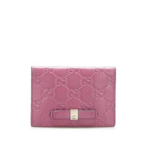 Gucci Porte-cartes violet cuir