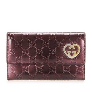 Gucci Wallet bordeaux imitation leather