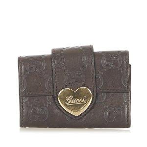 Gucci Étui porte-clés noir cuir