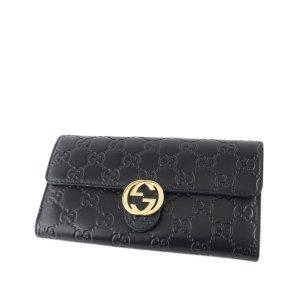 Gucci Portefeuille noir cuir