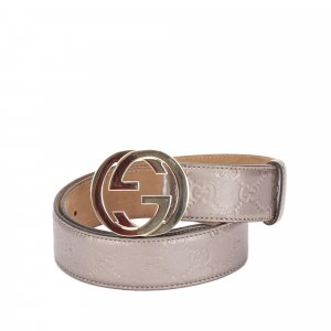 Gucci Belt light pink leather