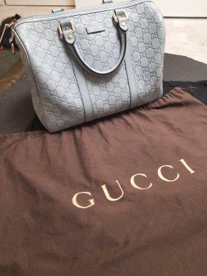 GUCCI Guccissima Leather Boston Bag Babyblue